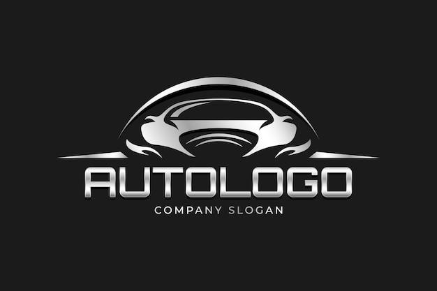Реалистичный металлический логотип автомобиля Premium векторы