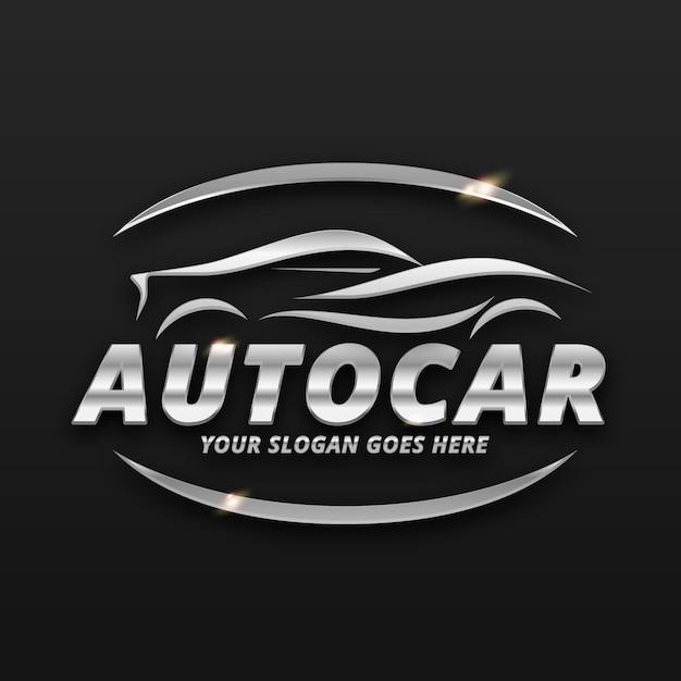Realistic metallic car logo Free Vector