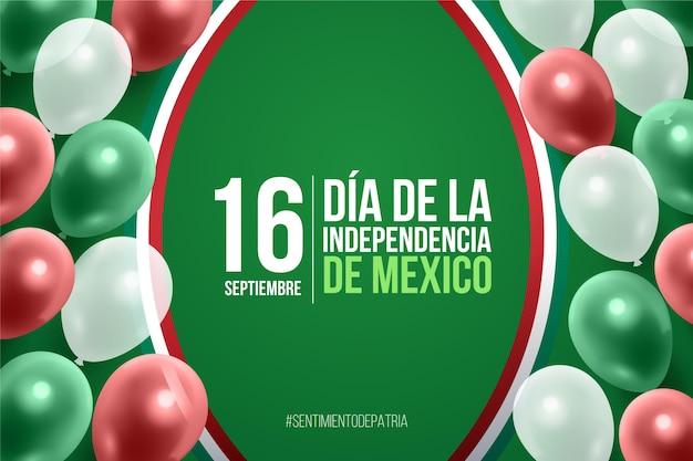 現実的なメキシコの独立記念日の背景 無料ベクター