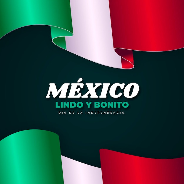 Realistic mexic independence day concept Free Vector