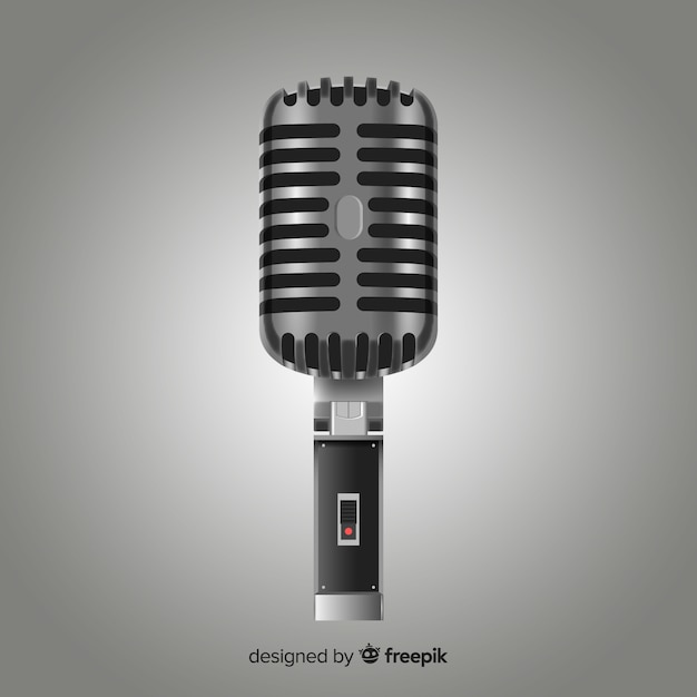 Realistic microphone Free Vector