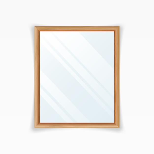 Realistic mirrors vector Premium Vector