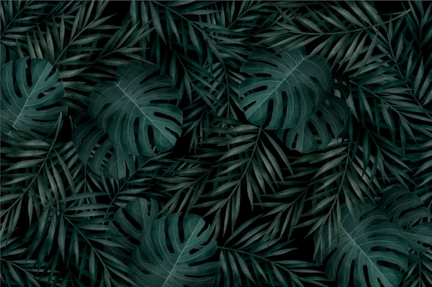Realistic Tropical Leaves Images Free Vectors Stock Photos Psd Polish your personal project or design with these tropical leaves transparent png images, make it even more personalized and more attractive. realistic tropical leaves images free