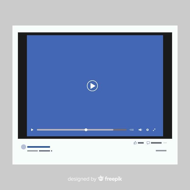 Modello realistico lettore multimediale Vettore gratuito