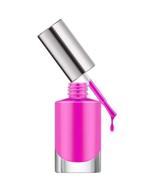 Realistic nail polish bottle Premium Vector