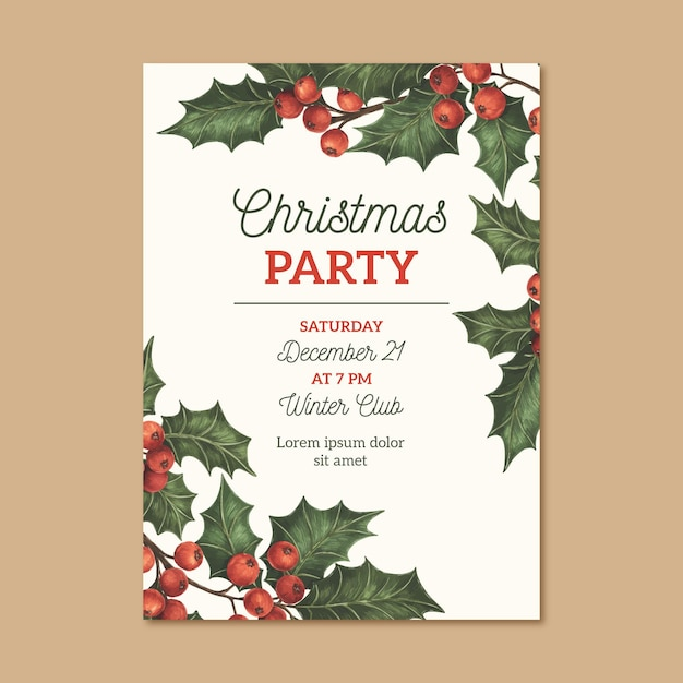 Christmas Party Near Me 2021 Free Vector Realistic New Year 2021 Party Flyer Template