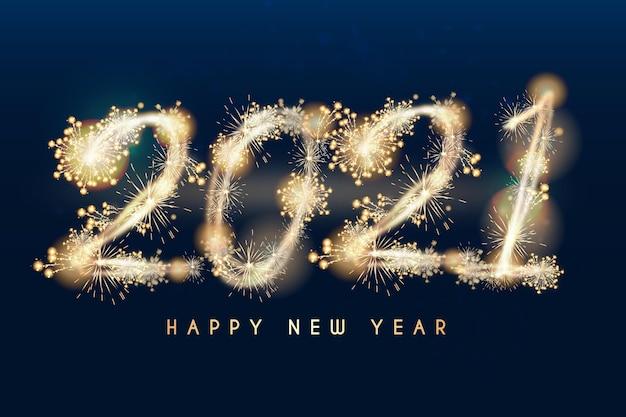Реалистичный новый год 2021 Premium векторы
