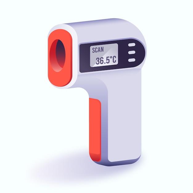 現実的な非接触赤外線温度計 無料ベクター