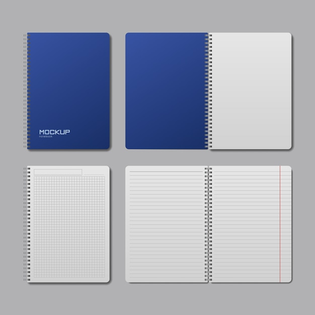 Realistic notebook mock up Premium Vector
