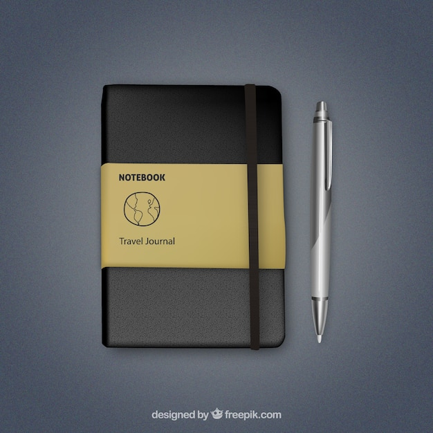 Realistic notebook Free Vector