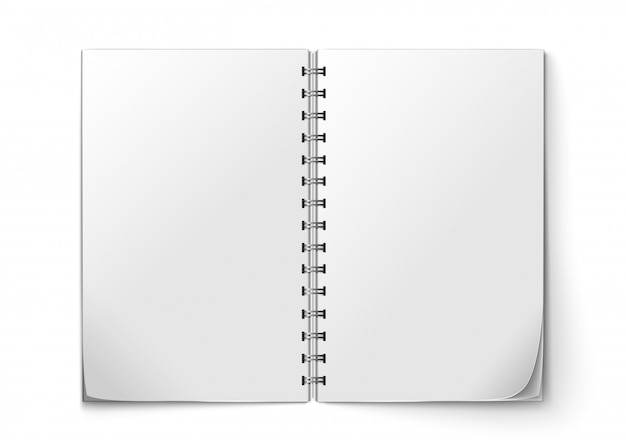 Realistic notepad open Free Vector