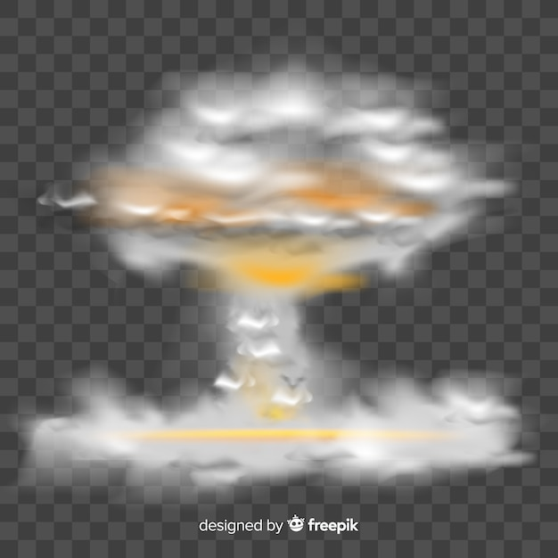 Realistic nuclear bomb smoke effect Free Vector