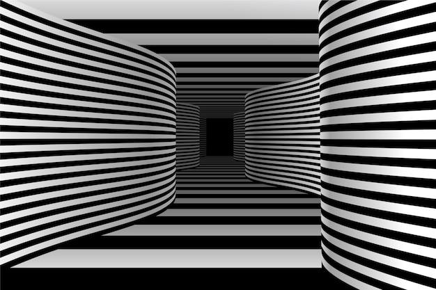 Реалистичная оптическая иллюзия фон Бесплатные векторы
