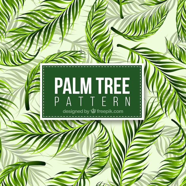 Realistic Palm Tree Pattern Free Vector