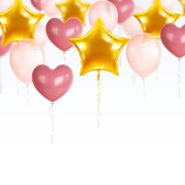 Realistic party balloons set Free Vector