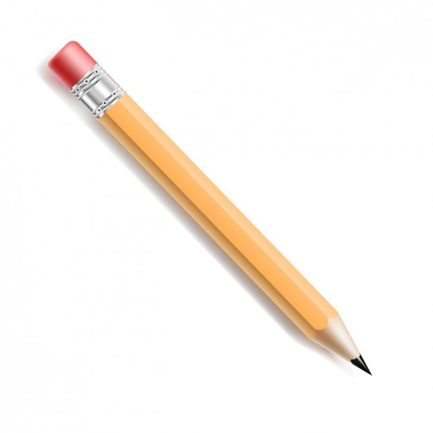 realistic pencil with rubber vector free download