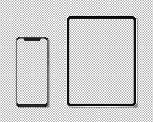 Realistic phone and tablet Premium Vector