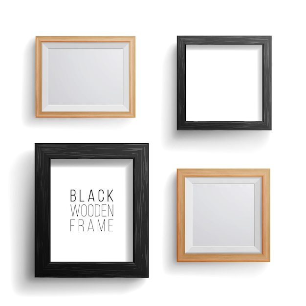 Realistic photo frame Premium Vector