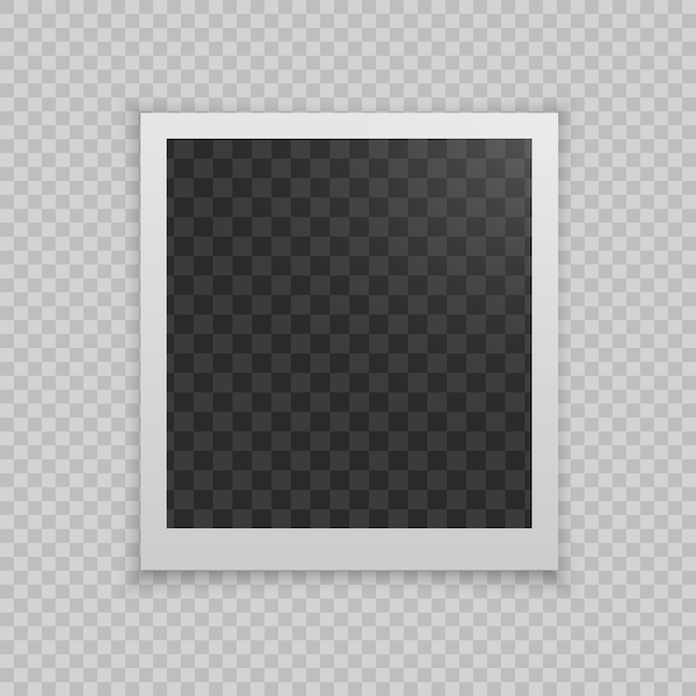 Realistic photo frame Premium Vector