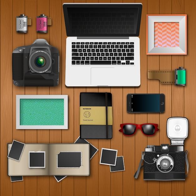 Office desk photography
