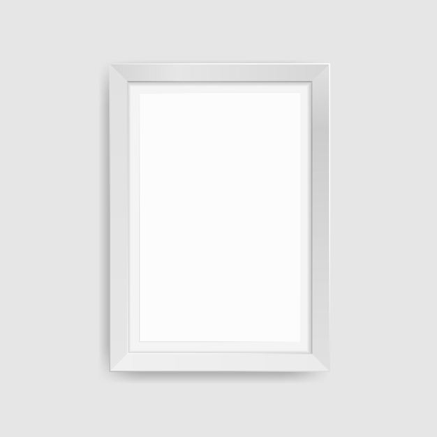 Realistic picture frame isolated Premium Vector