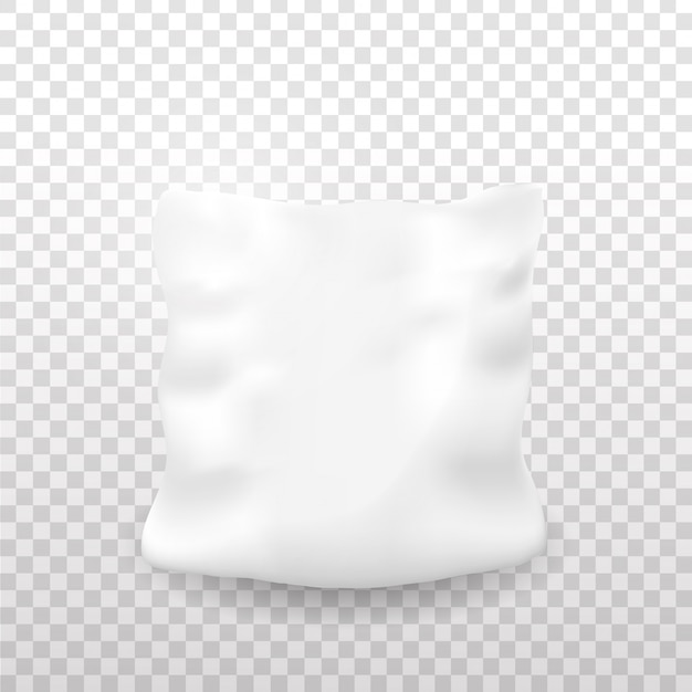 Realistic  pillow on the transparent background. Premium Vector