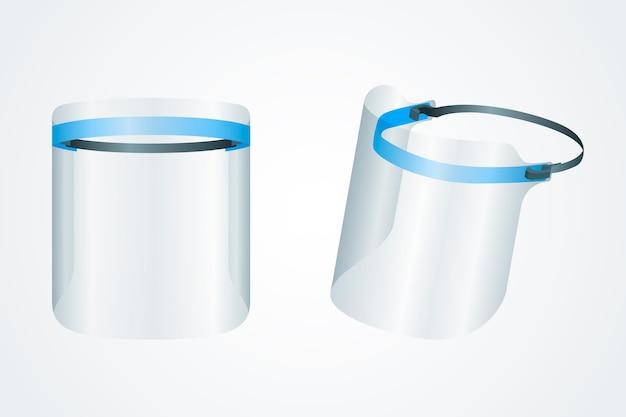 Realistic plastic face shield illustration Free Vector