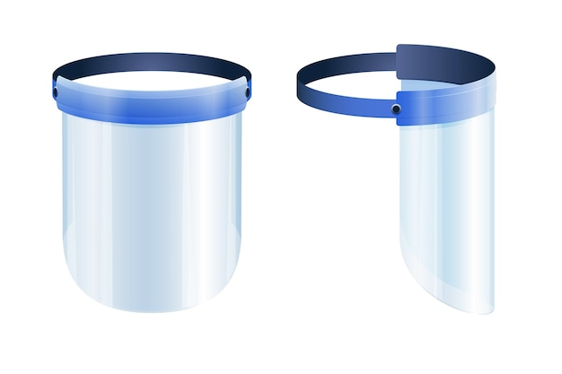 Realistic plastic face shield Free Vector