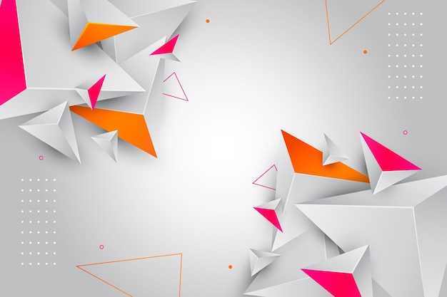 Realistic polygonal background Free Vector