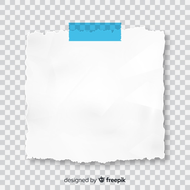 Realistic post note on transparent background Premium Vector