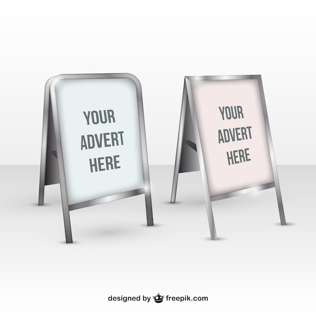Realistic poster mock up Free Vector