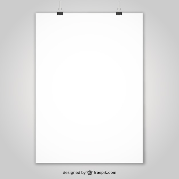 Realistic poster presentation Free Vector