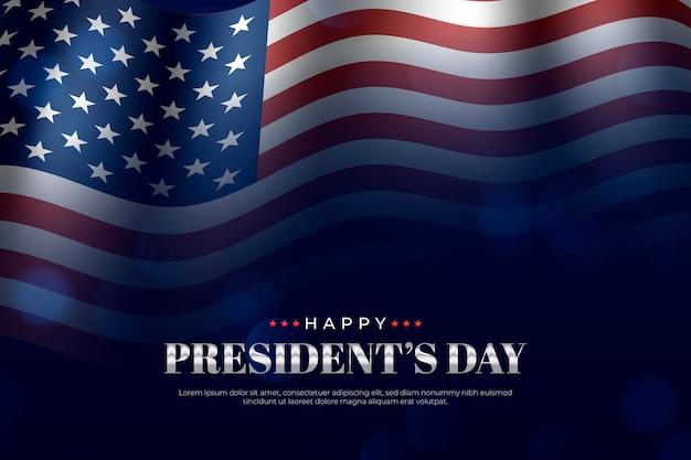 現実的な大統領の日のコンセプト 無料ベクター
