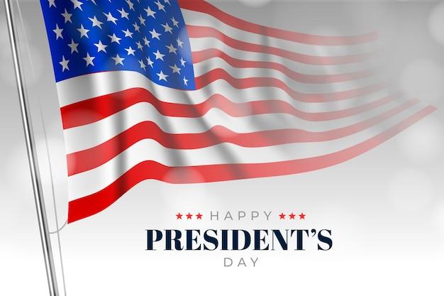 Реалистичный день президента Бесплатные векторы