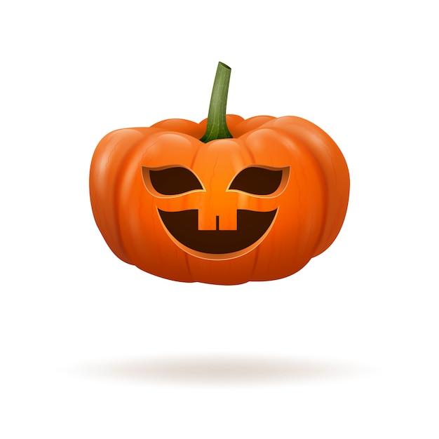 Realistic pumpkin on white Premium Vector