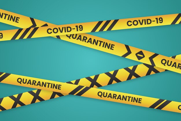 Realistic quarantine stripes design Free Vector