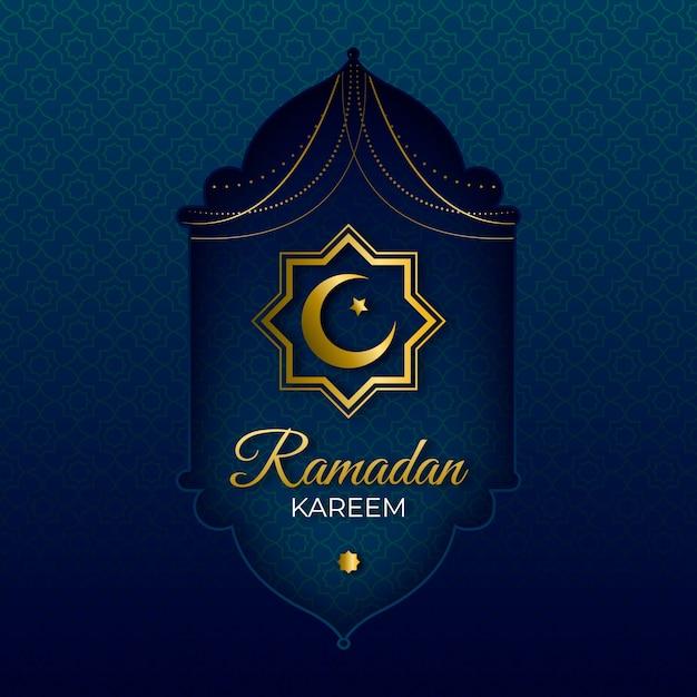 Realistic ramadan day celebration Free Vector