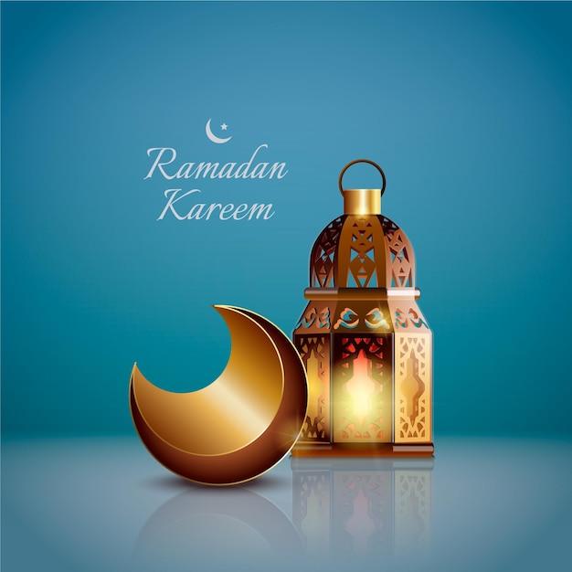 Elemento realistico di ramadan kareem Vettore gratuito