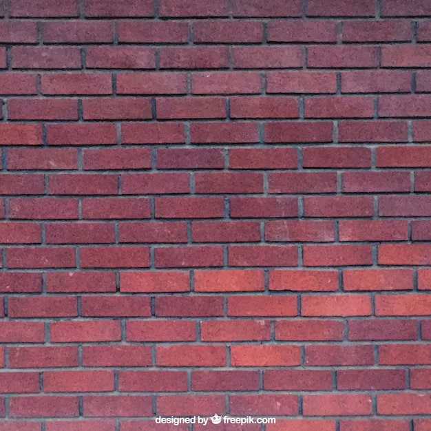 Realistic Red Bricks Texture Premium Vector