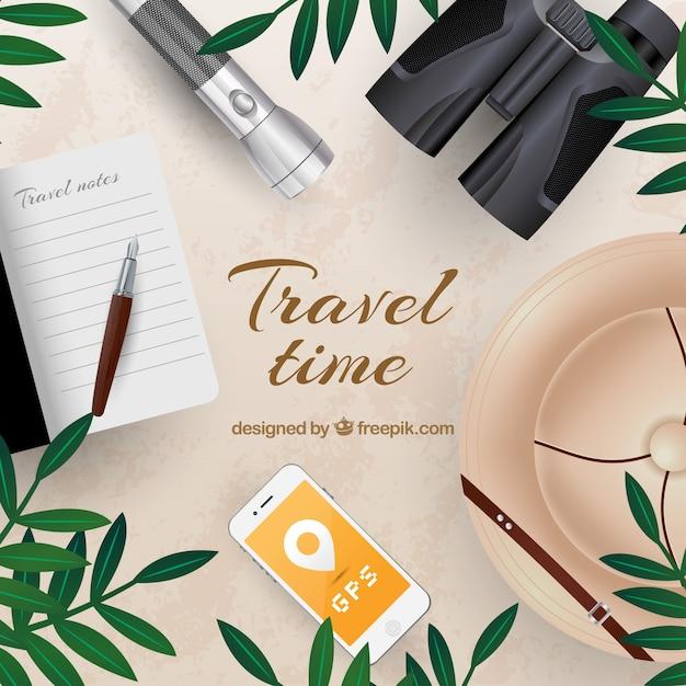 Realistic safari travel background