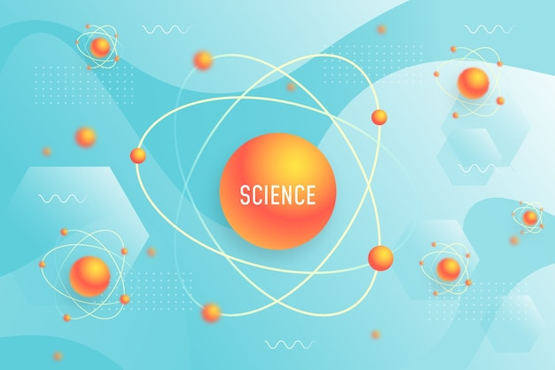 Realistic science background Free Vector