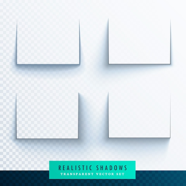 Realistic shadows for frames Free Vector