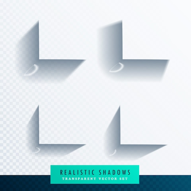 Realistic shadows for photo frames Free Vector