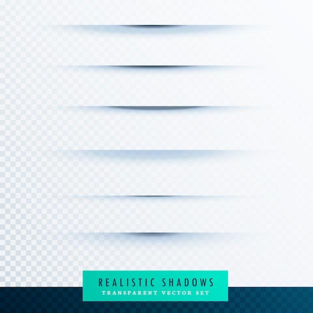 Realistic shadows set Free Vector