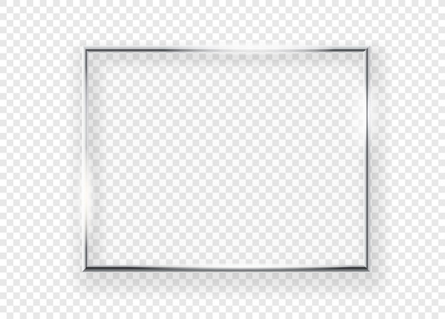 Premium Vector Realistic Shining Metal Picture Frame On A Wall Vector Illustration Horizontal Frame Isolated On Transparent Background,American Airlines Baggage Allowance Premium Economy