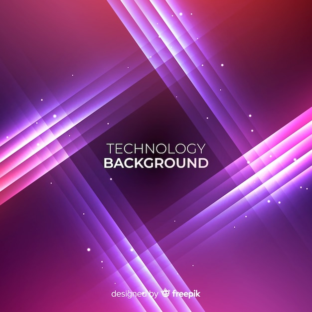 Realistic shining neon lights background Free Vector