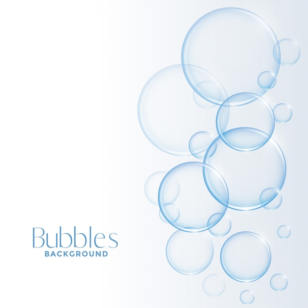 Realistic shiny water or soap bubbles background Free Vector