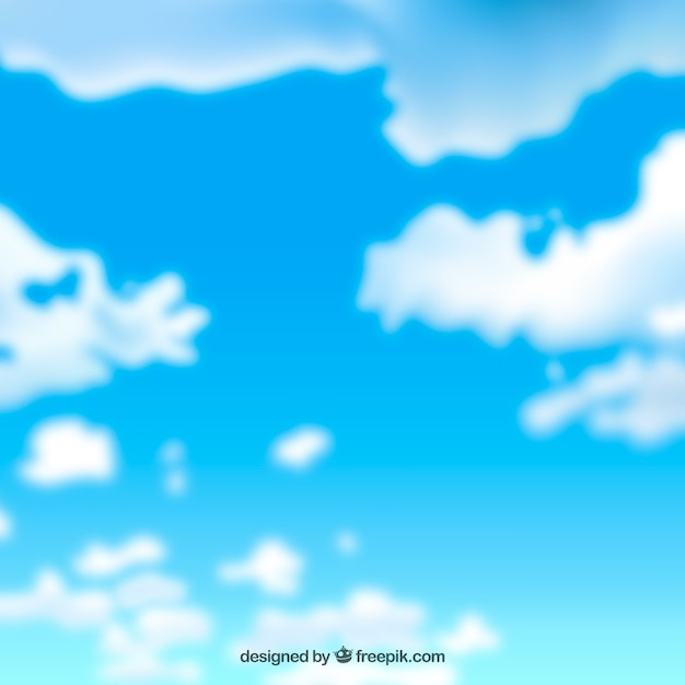 Realistic sky background with clouds Vector | Free Download