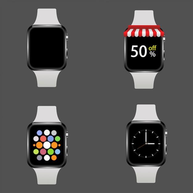 Реалистичные умные часы Premium векторы