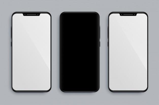 Реалистичная модель смартфона с передней и задней частью Бесплатные векторы